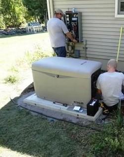 Instalação de tanque externo de combustível para geradores